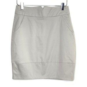 TRINA TURK Light Gray Pencil Skirt #LL4